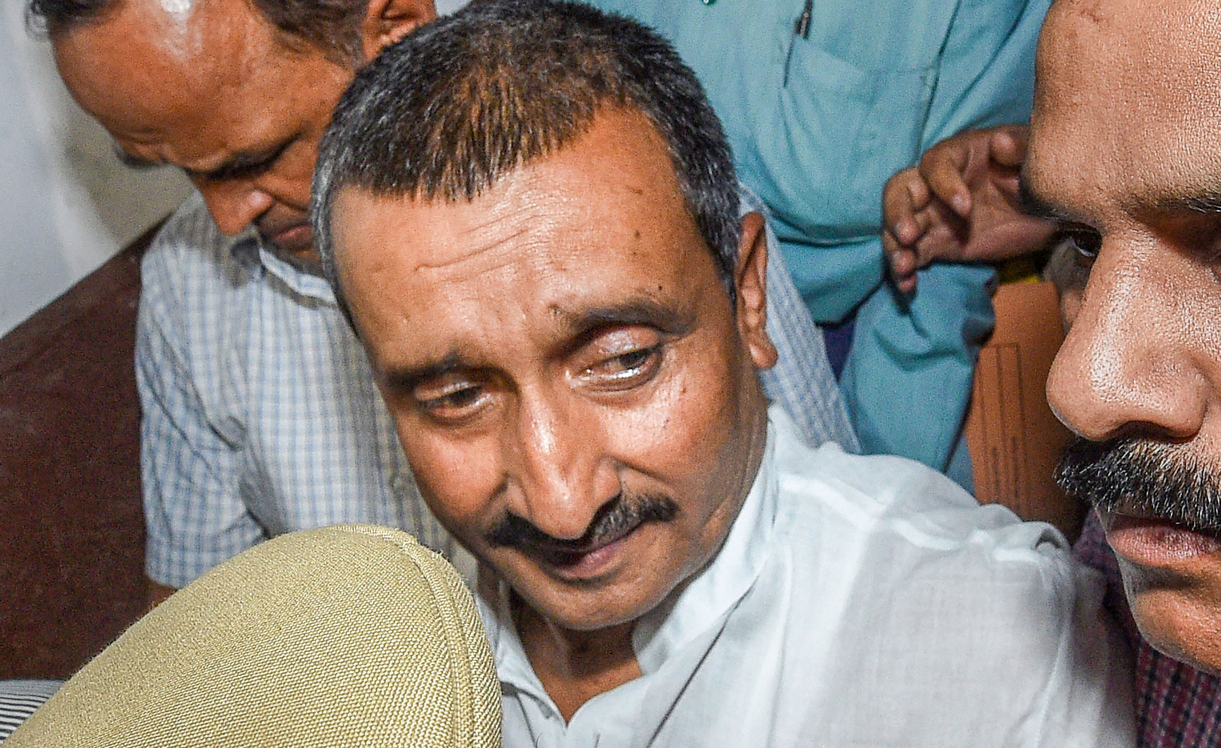Expelled BJP MLA Kuldeep Singh Sengar in Lucknow on April 14, 2018.