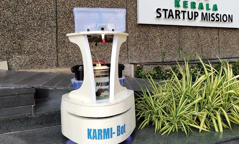 Karmi-Bot deployed at Government Medical College in Kalamassery, Kerala