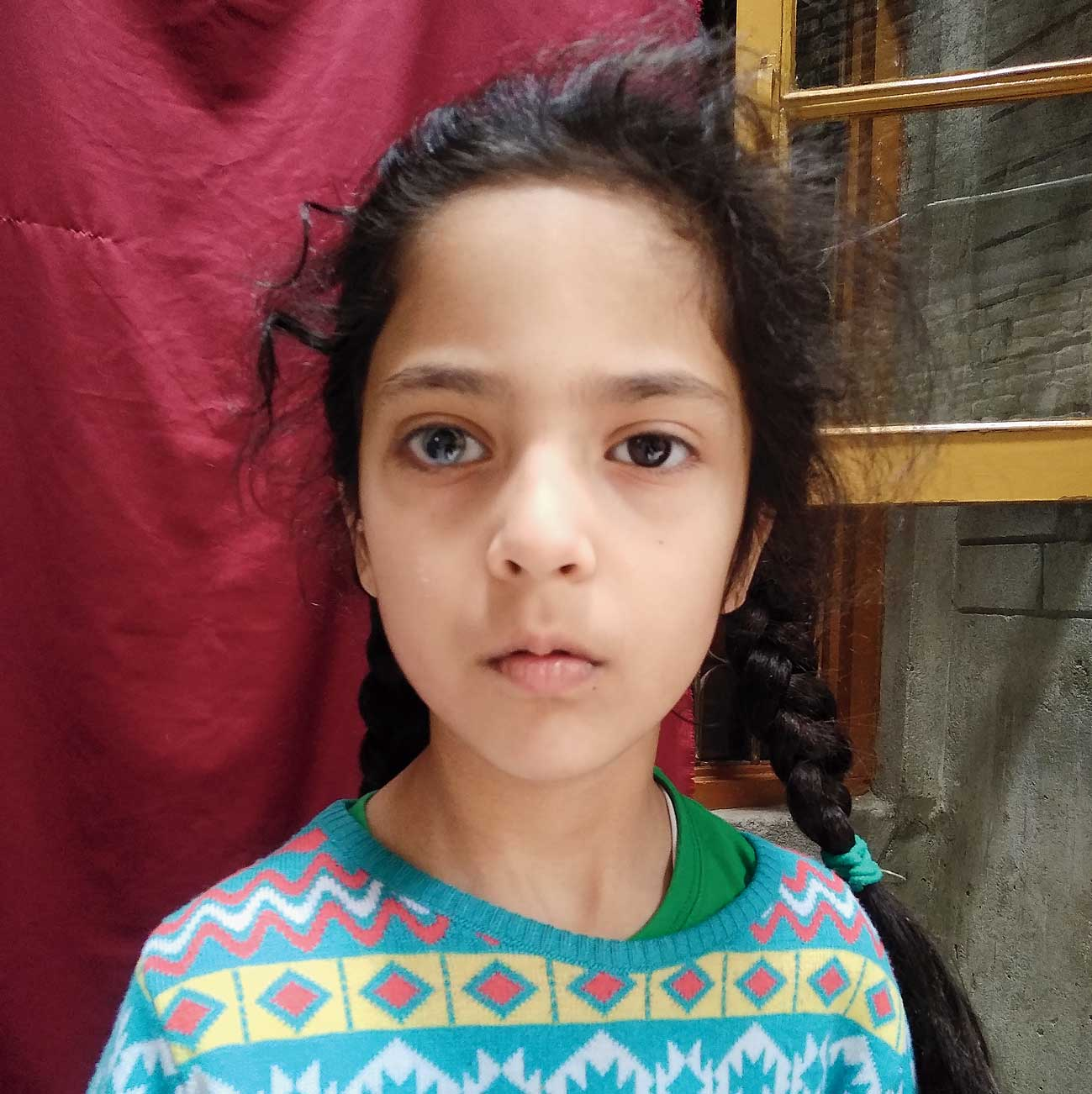 Muneefa at her home in Srinagar's old quarters on May 13 this year, nearly eight months after the Pulitzer-winning picture was clicked on September 17, 2019.