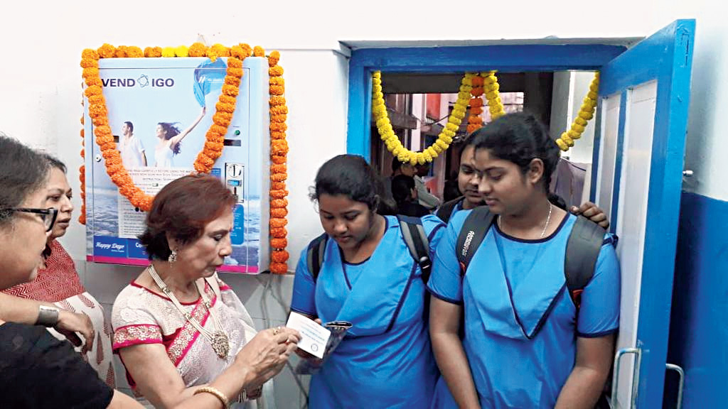 Sanitary pads at hand to bring girls to school