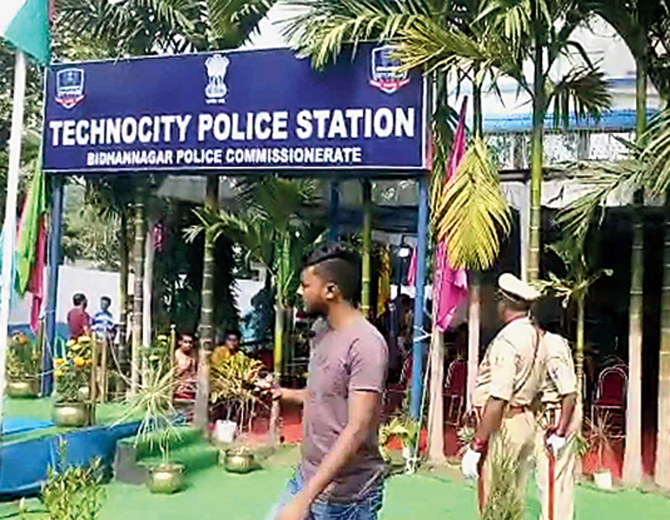 Technocity police station before the inauguration on Wednesday