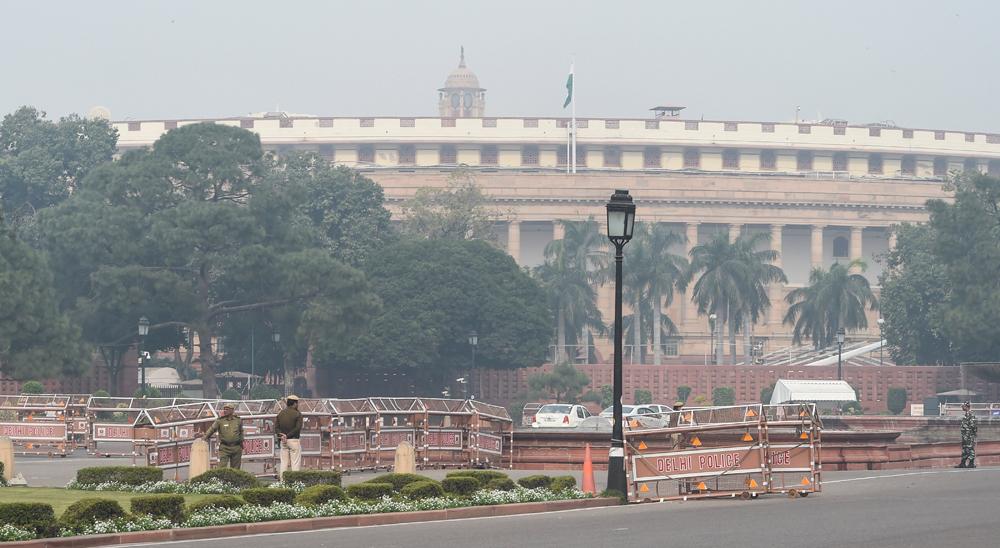 Tight security at Delhi's Vijay Chowk on December 11
