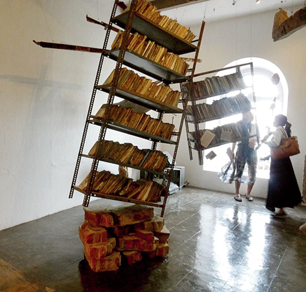 An installation by Marzia Farhana at the Kochi-Muziris Biennale
