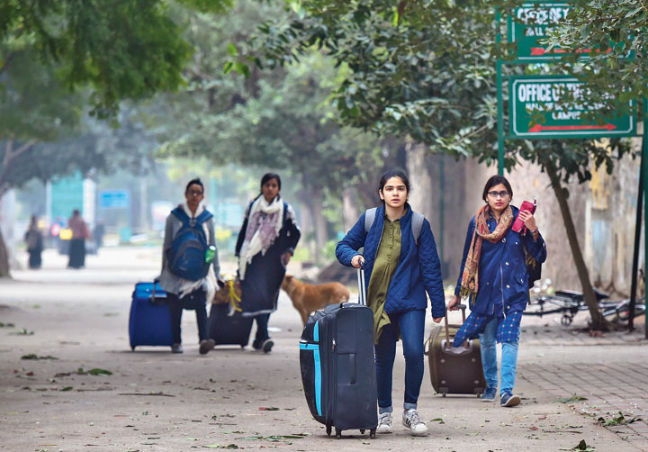 After police rampage, exodus from Delhi starts