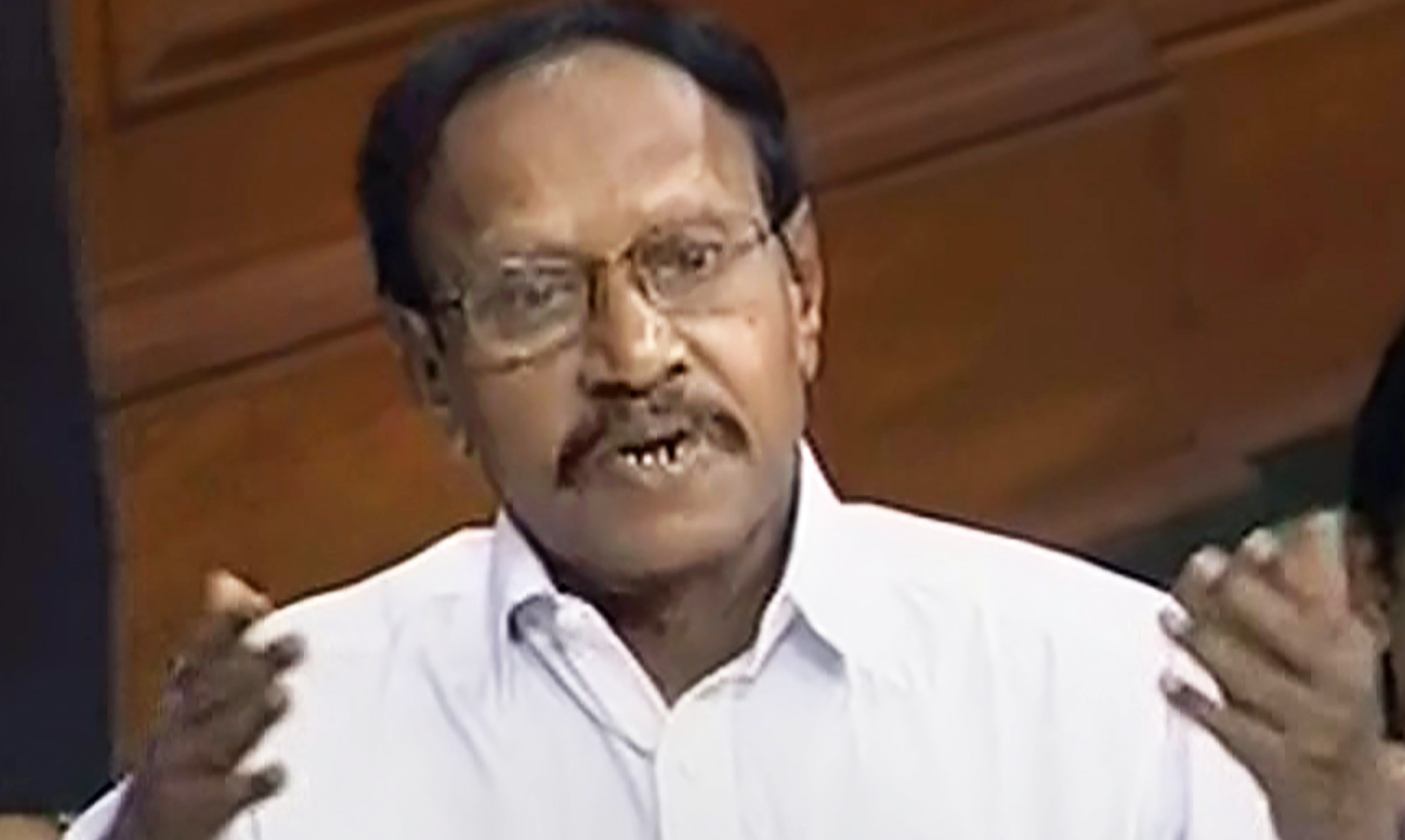 Lok Sabha deputy speaker M. Thambidurai in the Lok Sabha on Friday, Jan 4, 2019.