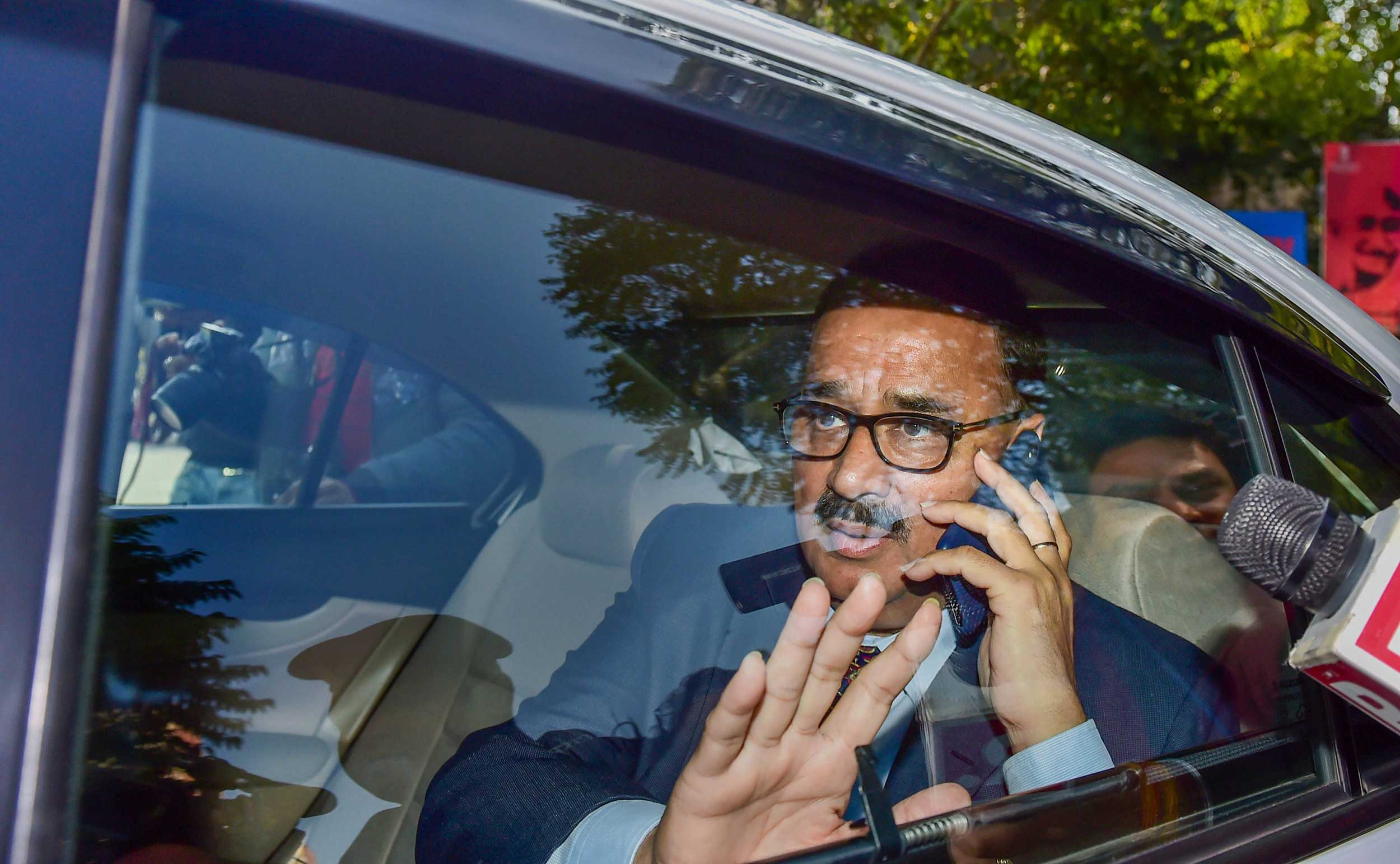 Alok Verma arrives at the CBI headquarters in New Delhi, on Wednesday, January 9, 2019.