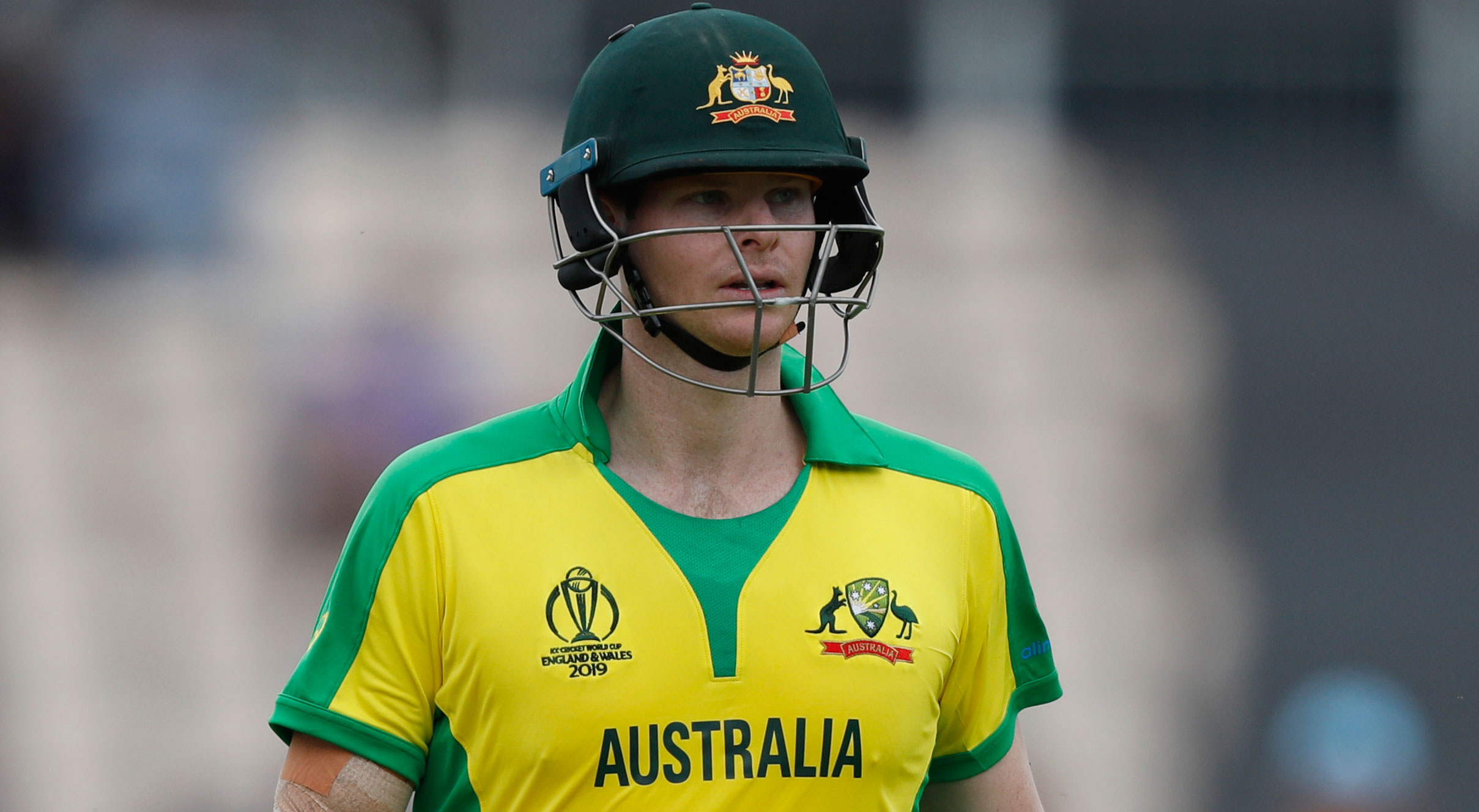 Steve Smith during the ICC Cricket World Cup warm-up match between England and Australia at the Rose Bowl in Southampton, England, on May 25, 2019.