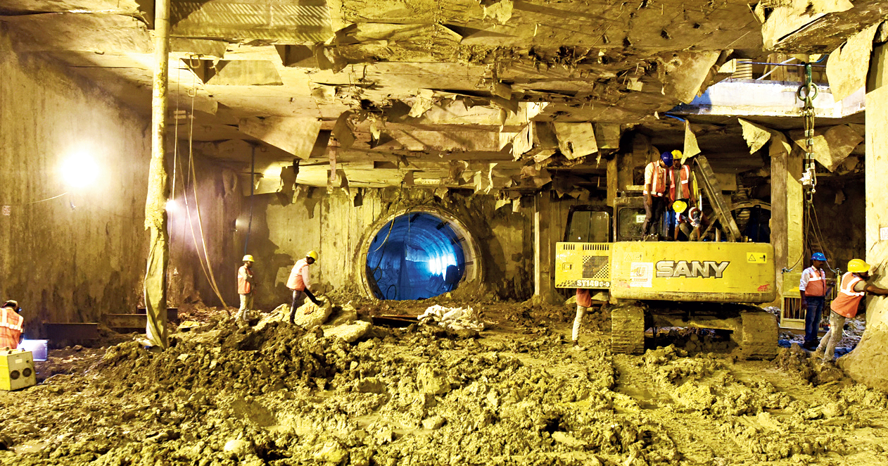 The site where the underground Howrah station of East-West Metro will be built