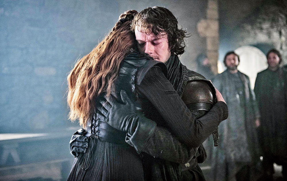 The happy reunion between Sansa Stark and Theon Greyjoy which evoked more goosebumps and maybe even a tear or two than the Jon and Arya reunion could
