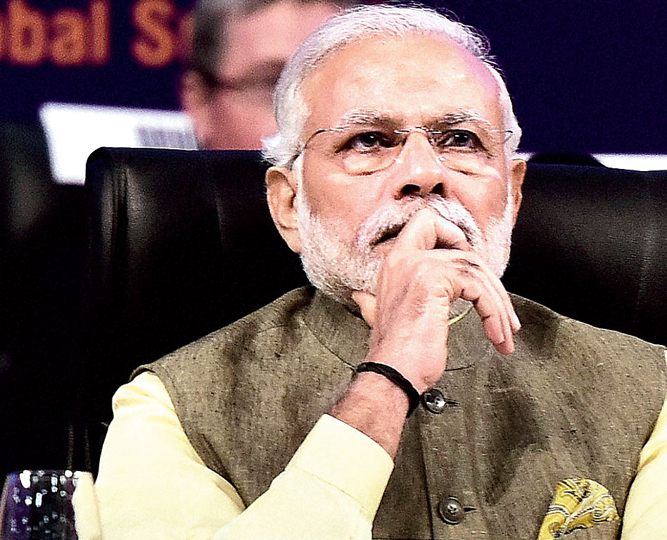 Keeping watch: Modi