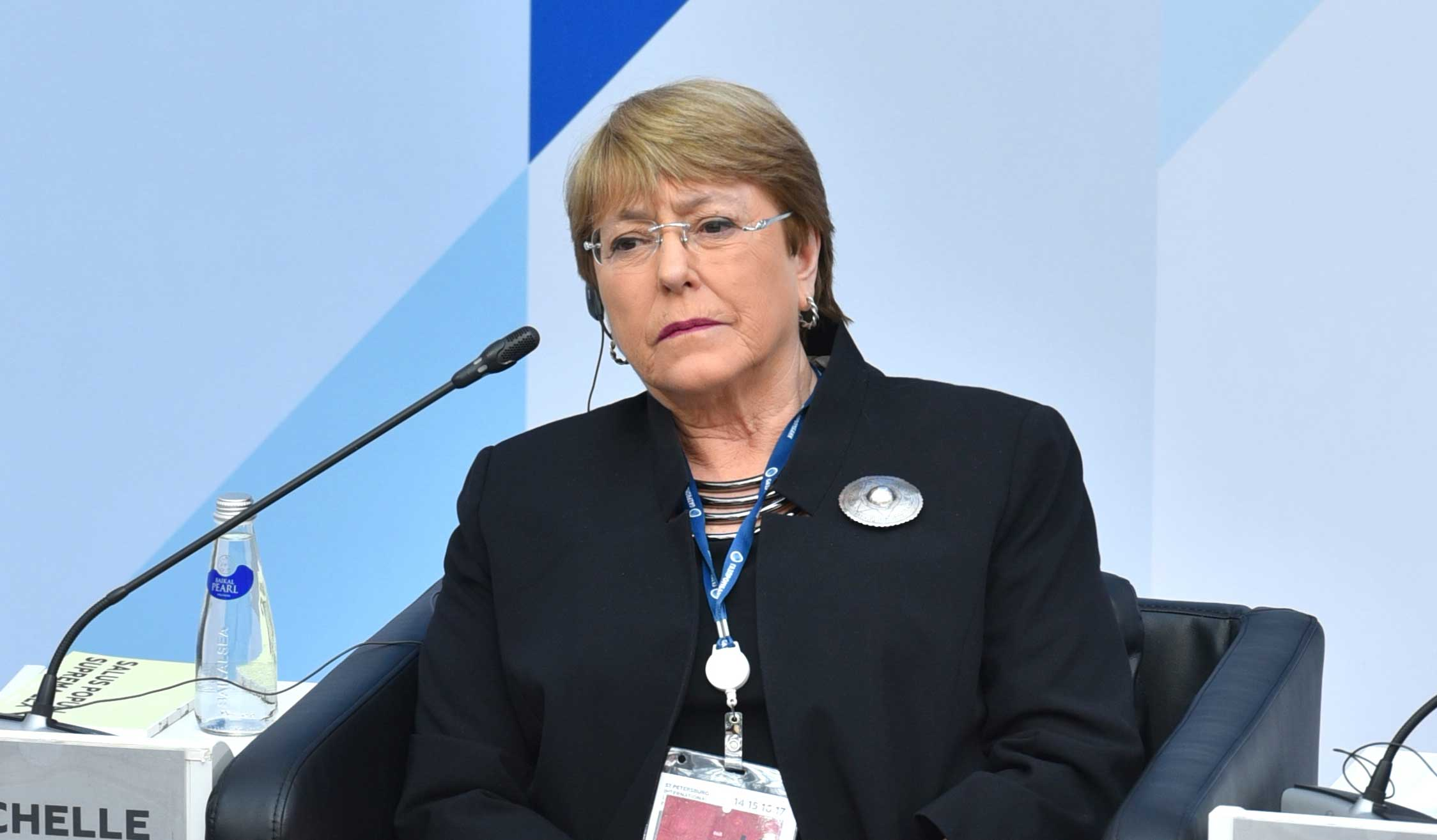 Michelle Bachelet Jeria, United Nations High Commissioner for Human Rights. The high commissioner is the principal human rights official of the UN.