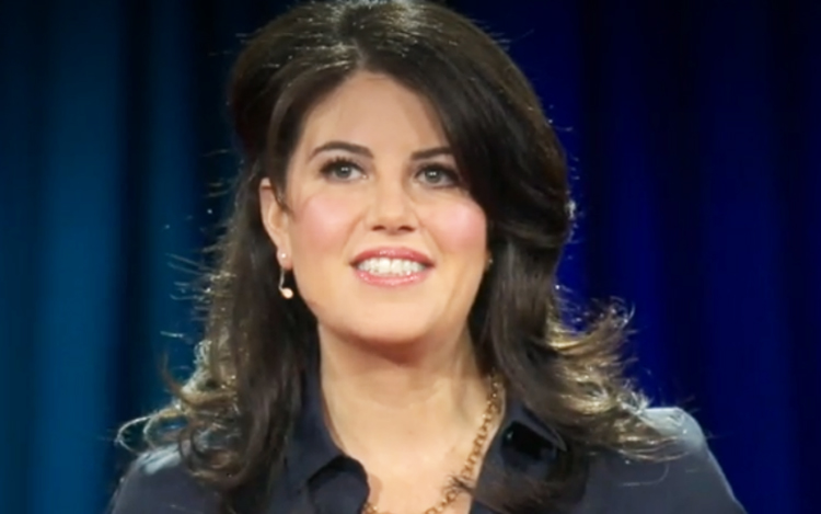 A screenshot of Monica Lewinsky during a TED Talks session