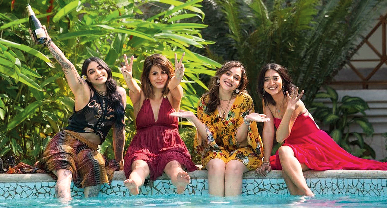 (L-R) Bani J, Kirti Kulhari, Maanvi Gagroo and Sayani Gupta in Four More Shots Please!