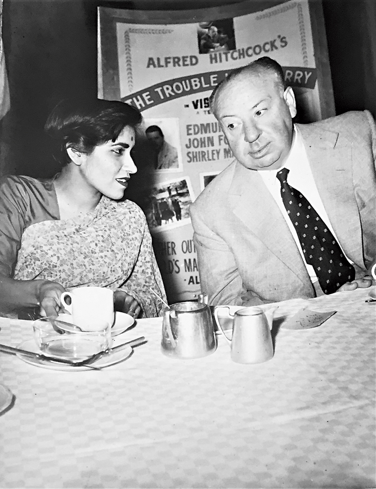 Gulshan Ewing with director Alfred Hitchcock