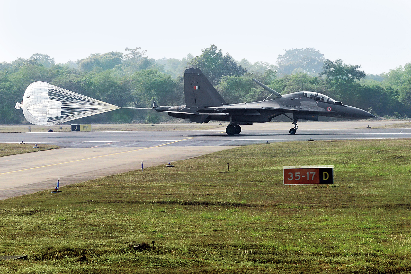 A Sukhoi Su-30MKI during the joint Indo-US air exercise at Kalaikunda, in West Midnapore, on Monday